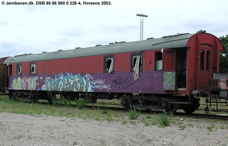 DSB tjenestevogn 80 86 980 0226-4
