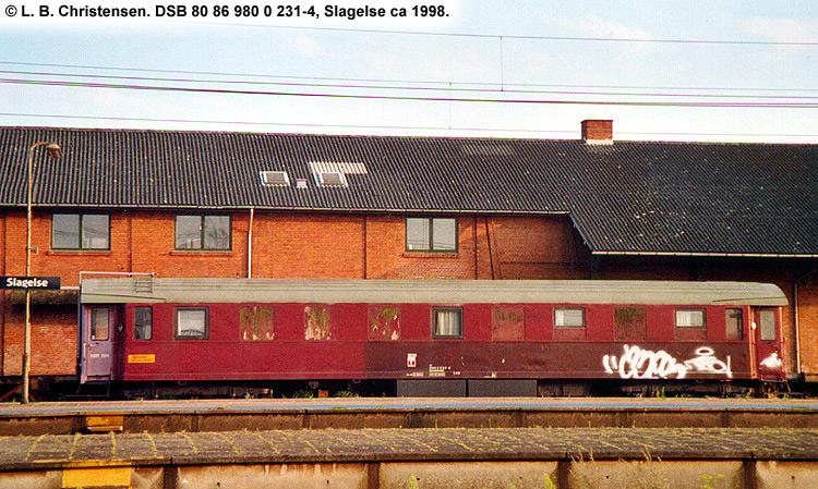 DSB tjenestevogn 80 86 980 0231 - 4