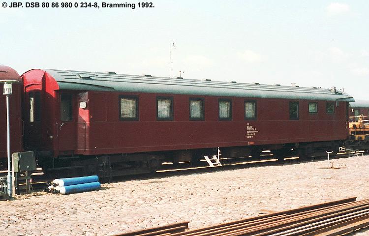 DSB tjenestevogn 80 86 980 0234-8