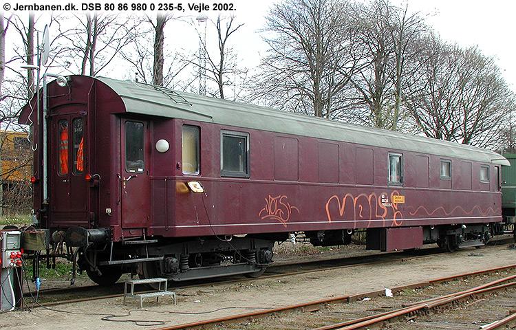 DSB tjenestevogn 80 86 980 0235 - 5