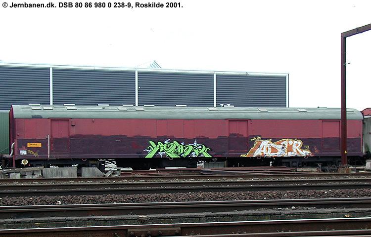 DSB tjenestevogn 80 86 980 0238-9