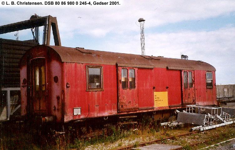 DSB tjenestevogn 80 86 980 0245 - 4