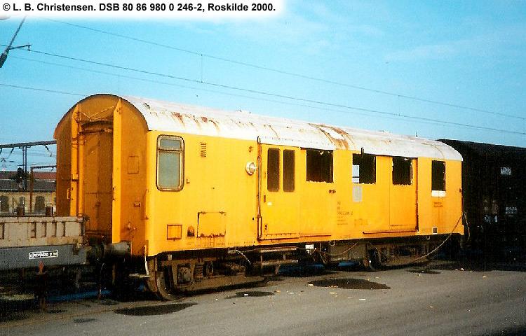 DSB Tjenestevogn 80 86 980 0246 - 2