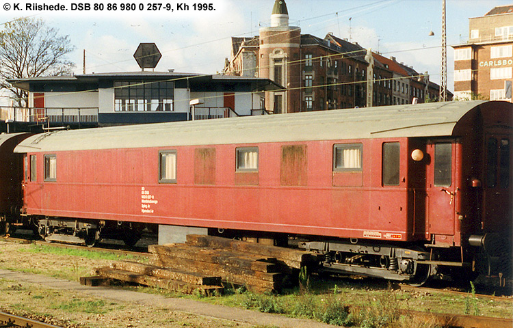 DSB tjenestevogn 80 86 980 0257-9