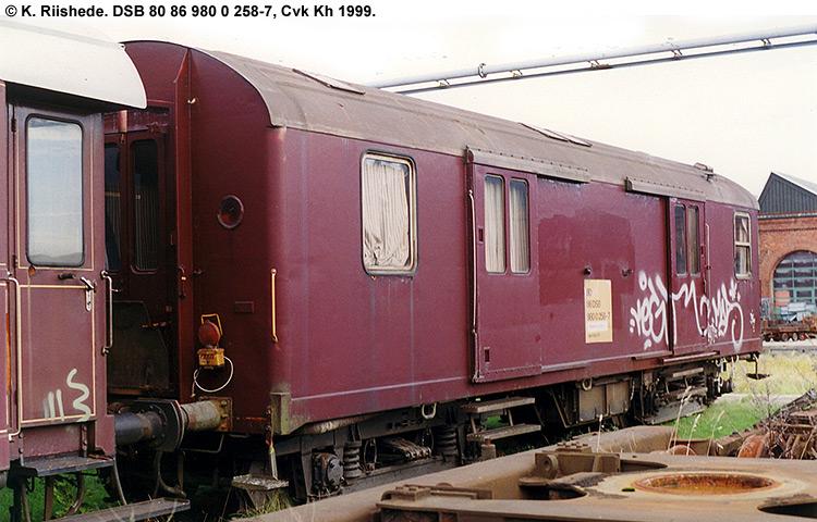DSB tjenestevogn 80 86 980 0258-7
