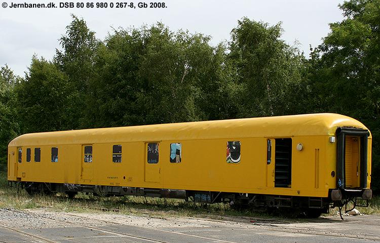 DSB tjenestevogn 80 86 980 0267-8