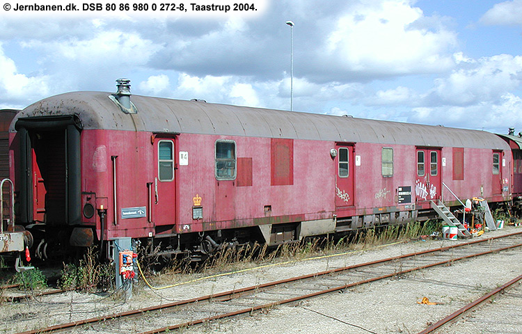 DSB tjenestevogn 80 86 980 0272 - 8