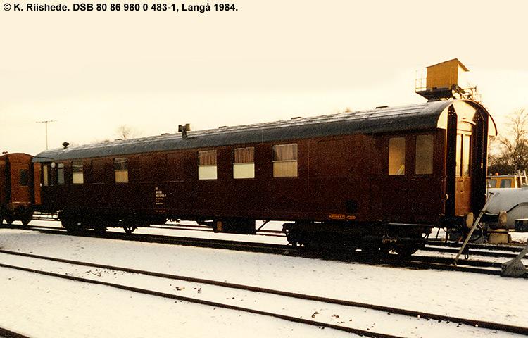 DSB tjenestevogn 80 86 980 0483 - 1