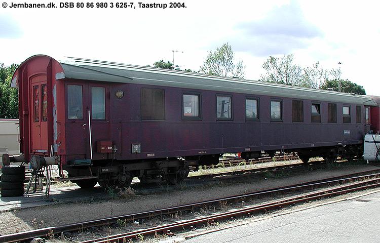 DSB tjenestevogn 80 86 980 0625-7
