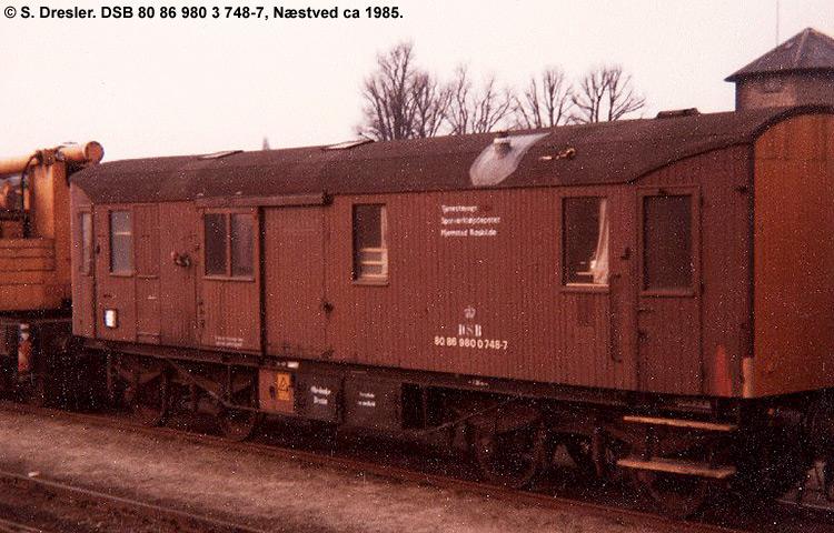 DSB tjenestevogn 80 86 980 0748 - 7