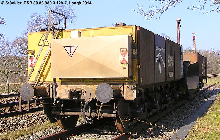 DSB tjenestevogn 80 86 980 3129 - 7
