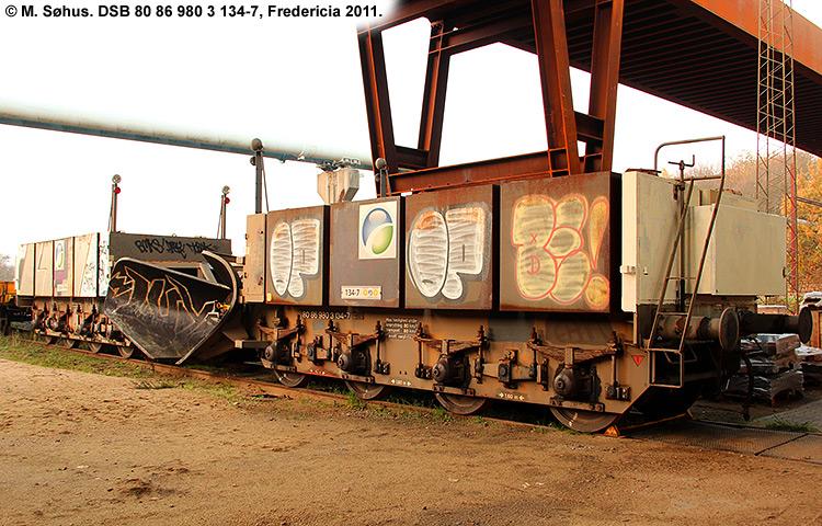 DSB tjenestevogn 80 86 980 3134 - 7