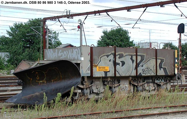 DSB tjenestevogn 80 86 980 3145-3