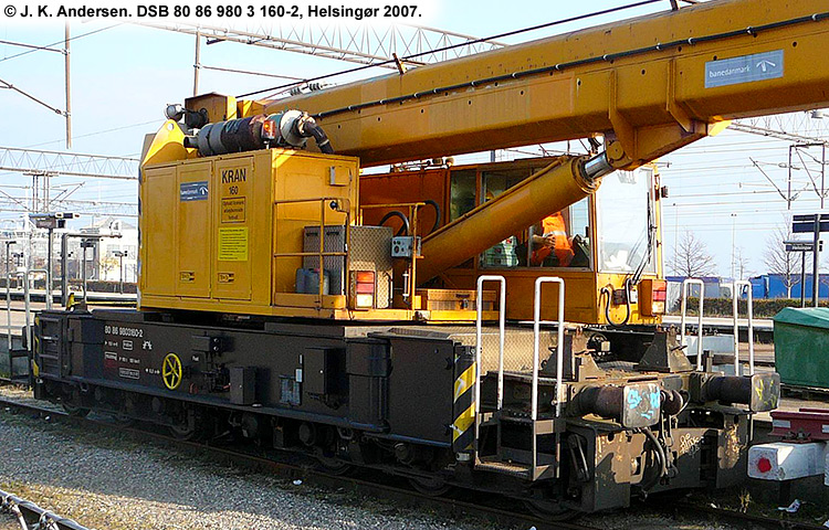 DSB tjenestevogn 80 86 980 3160 - 2