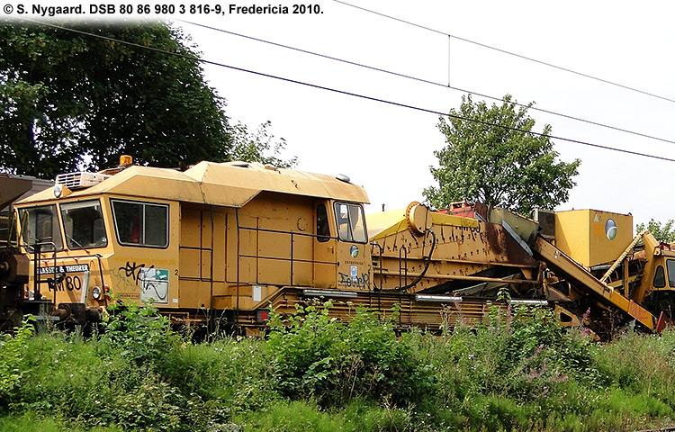 DSB tjenestevogn 80 86 980 3816 - 9