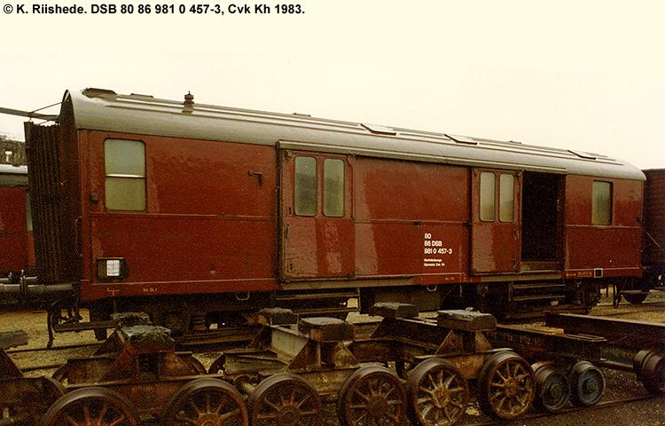 DSB tjenestevogn 80 86 981 0457 - 3