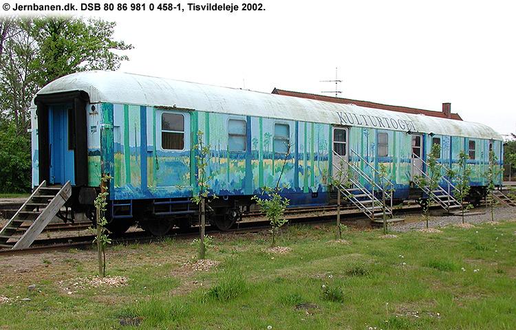DSB tjenestevogn 80 86 981 0458 - 1