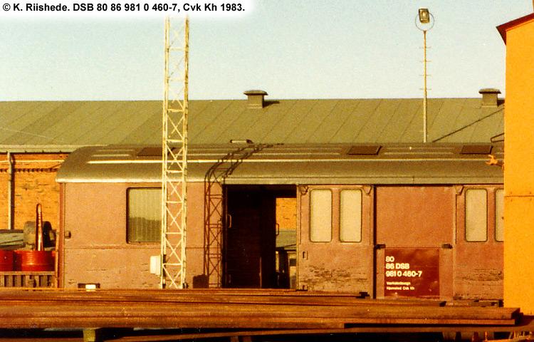 DSB tjenestevogn 80 86 981 0460-7