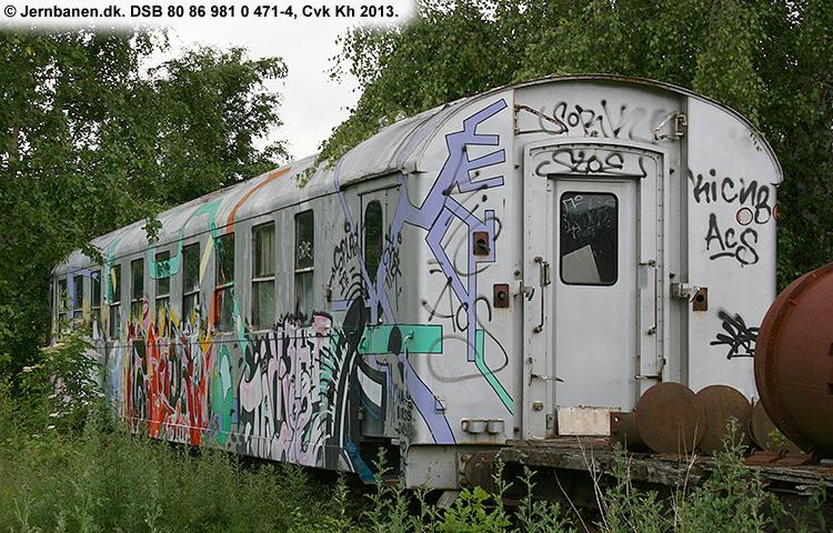 DSB tjenestevogn 80 86 981 0471 - 4