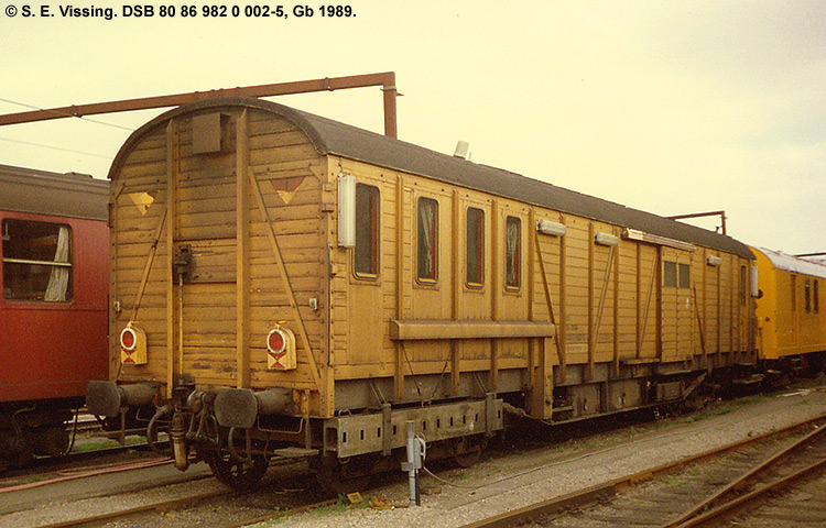 DSB tjenestevogn 80 86 982 0002 - 5