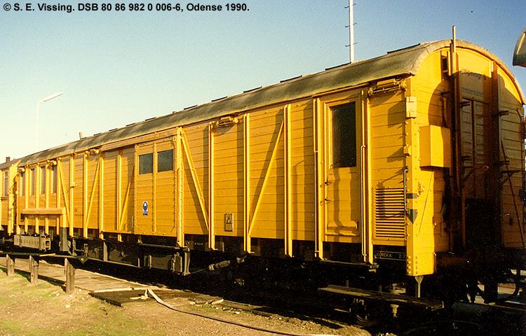 DSB tjenestevogn 80 86 982 0006 - 6