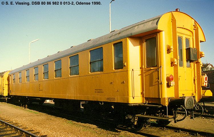 DSB tjenestevogn 80 86 982 0013 - 2
