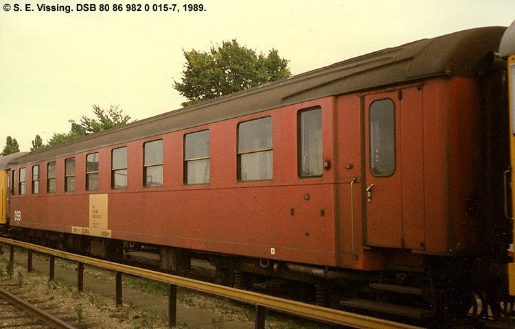 DSB tjenestevogn 80 86 982 0015 - 7