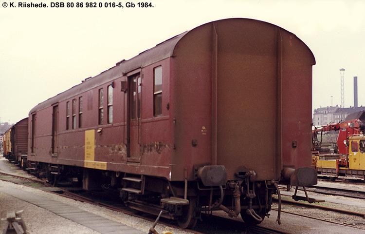 DSB tjenestevogn 80 86 982 0016 - 5