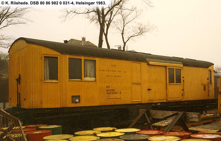 DSB tjenestevogn 80 86 982 0031 - 4