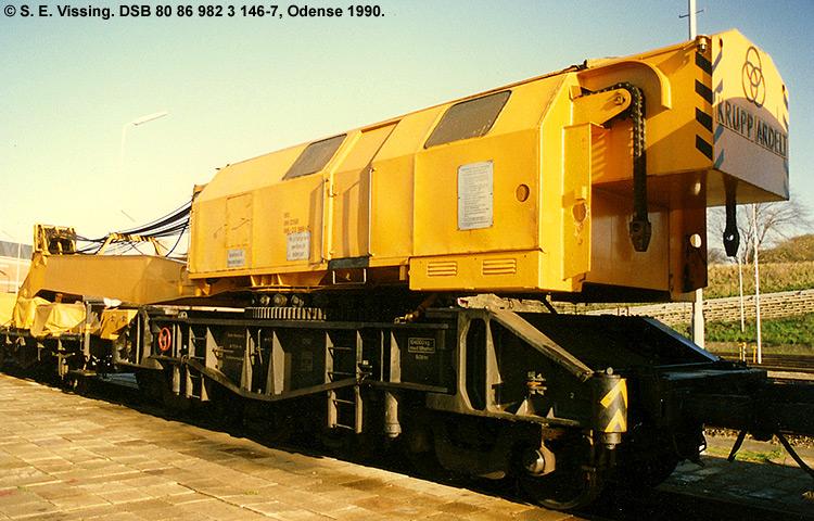 DSB tjenestevogn 80 86 982 3146 - 7