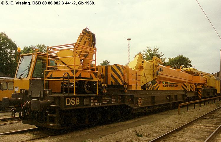 DSB tjenestevogn 80 86 982 3441 - 2