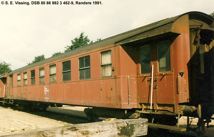 DSB tjenestevogn 80 86 982 3452 - 9