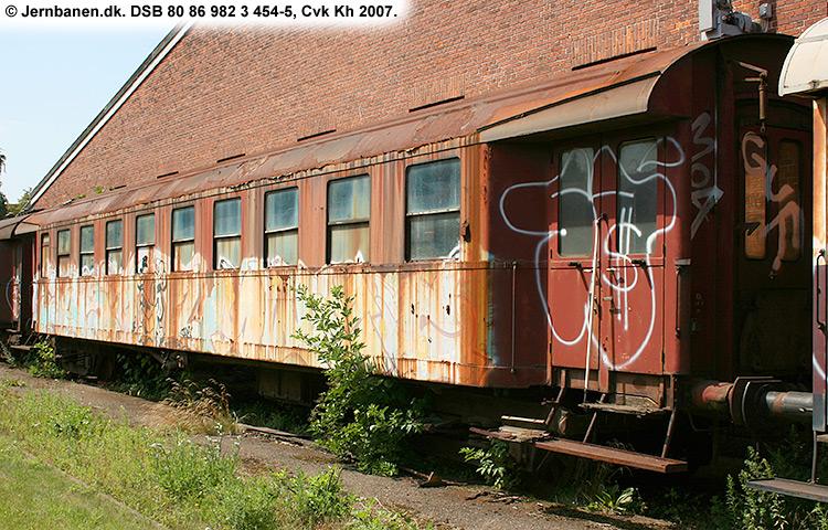 DSB tjenestevogn 80 86 982 3454 - 5