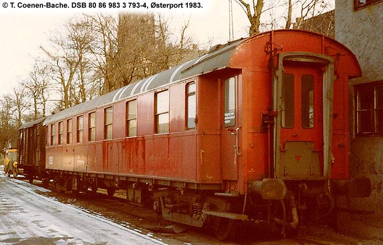 DSB tjenestevogn 80 86 983 3793 - 4