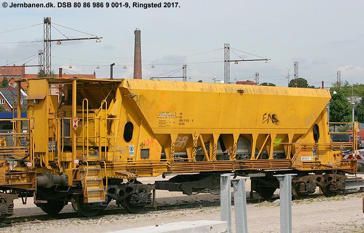 DSB tjenestevogn 80 86 986 9001 - 9