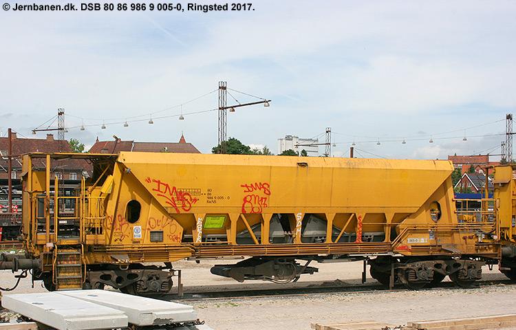 DSB tjenestevogn 80 86 986 9005 - 0