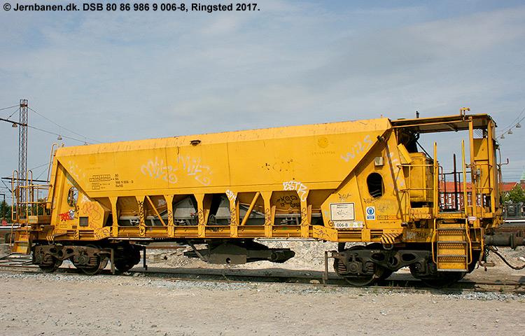 DSB tjenestevogn 80 86 986 9006 - 8