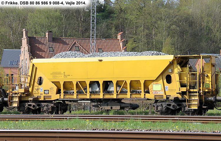 DSB tjenestevogn 80 86 986 9008 - 4