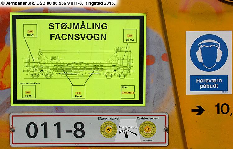 DSB Tjenestevogn 80 86 986 9011 - 8
