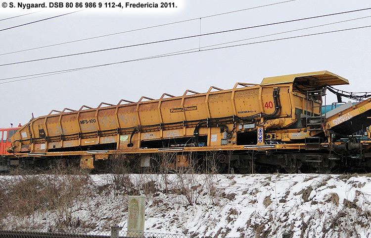DSB tjenestevogn 80 86 986 9111 - 6