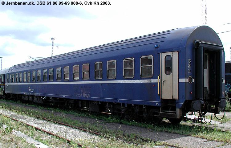 DSB Tjenestevogn 61 86 99-69008 - 6