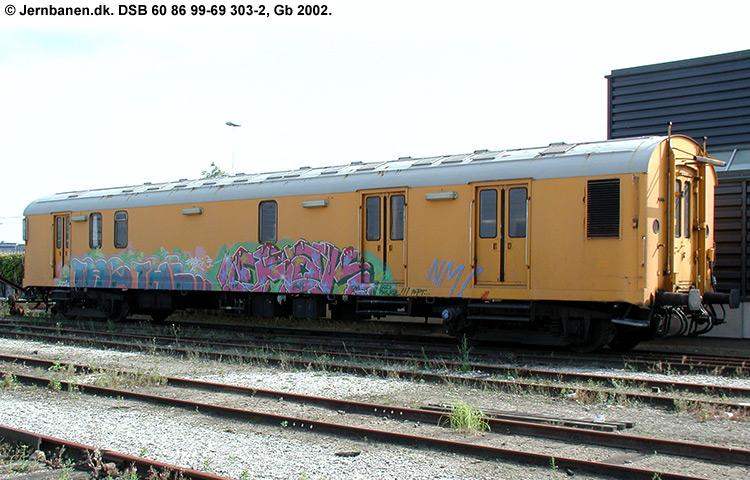 DSB tjenestevogn 60 86 99-69303 - 2