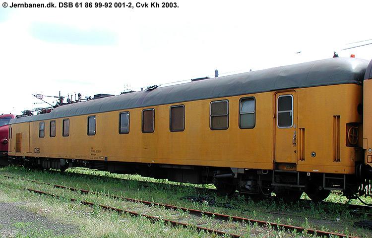 DSB Tjenestevogn 61 86 99-92001 - 2