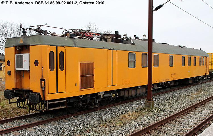 DSB tjenestevogn 61 86 99-92001-2