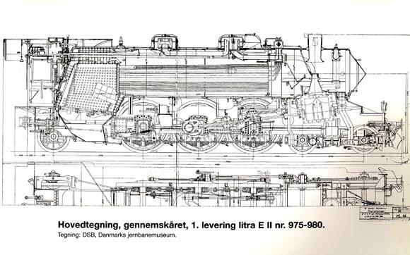 Hovedtegning gennemskåret af 1. levering