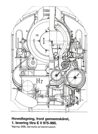 Hovedtegning front gennemskåret af 1. levering