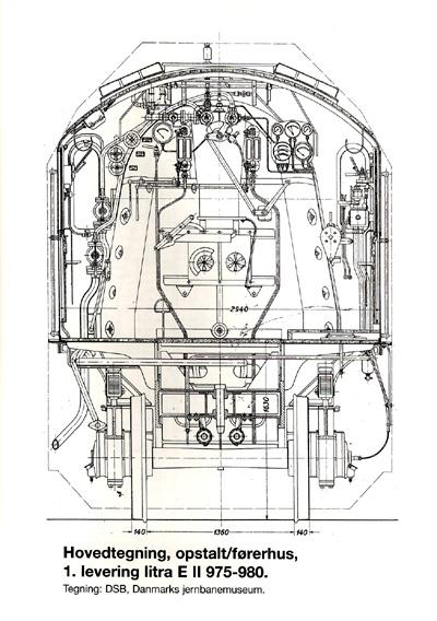 Hovedtegning opstalt førerhus af 1. levering