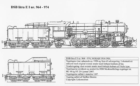DSB E 964-974 fra ca. 1950