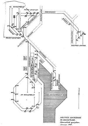 Sporplan Næstved havnebane januar 1963