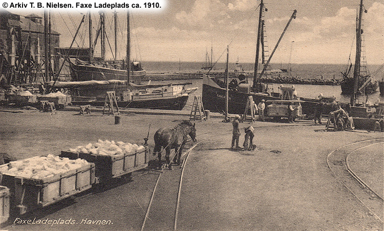 Faxe Ladeplads ca. 1910